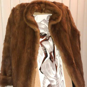 Jackets & Blazers - Brown Mink Fur Jacket